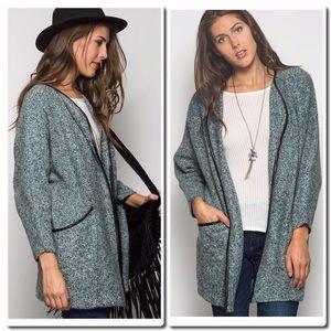 Jackets & Blazers - PRICE FIRM- LONG SLEEVECoat in Jade