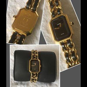 CHANEL Accessories - Chanel Premiere Sapphire Gold Watch