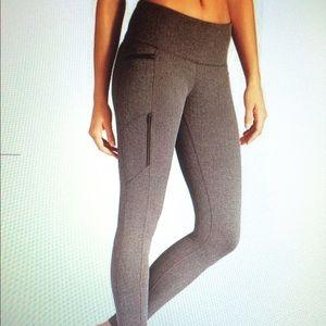 Athleta Herringbone tights -- size S