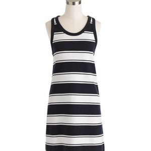J Crew Navy & White Rugby Stripe Tank Dress size M