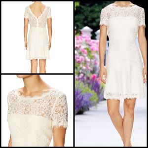 Diane von Furstenberg Dresses & Skirts - Fifi Ivory Lace Fit And Flare Dress