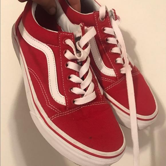 vans old skool formula one red