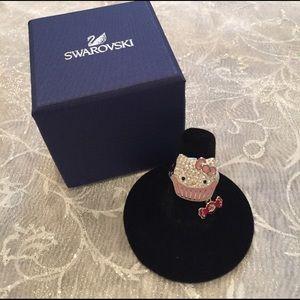 Swarovski Jewelry - NWT Swarovski Hello Kitty ring with dangling bow!