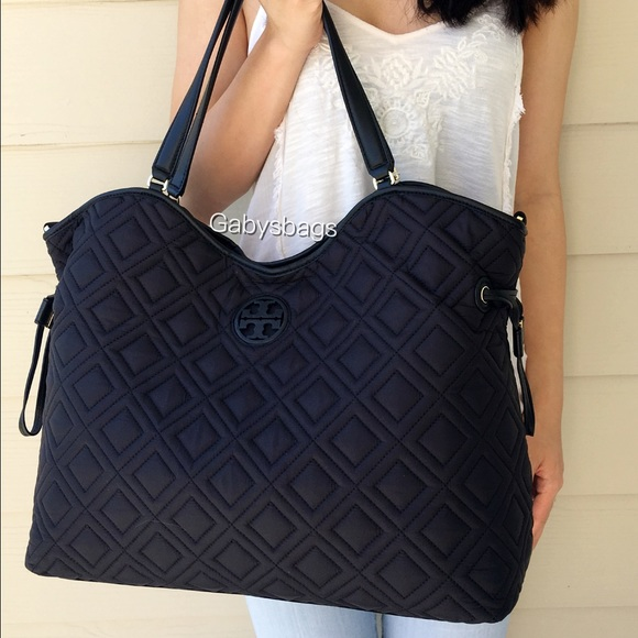 b8aadef10a2 Tory Burch Marion quilted baby bag diaper tote