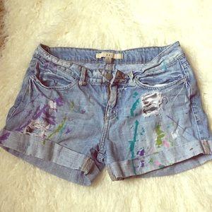 🔥SALE🔥 Paint Splatter Denim Shorts 💕