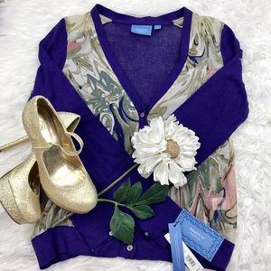 Simply Vera Vera Wang Sweaters - 💕SALE💕Simply Vera Wang Purple Sheer Sweater