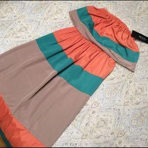 Ark & Co Dresses & Skirts - Color block strapless maxi dress