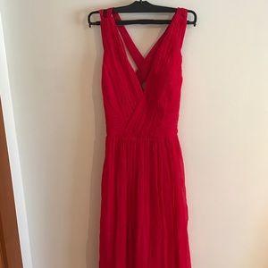 MANGO women's red dress