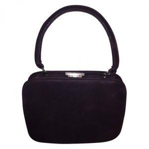PRADA sueded leather frame EVENING BAG $1800