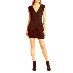 BCBG Alondra draped dress black