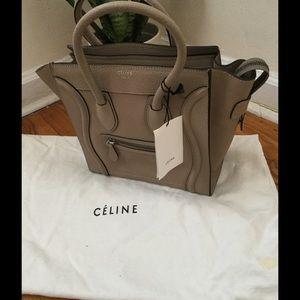 Celine Handbags - Authentic Celine mini luggage cream