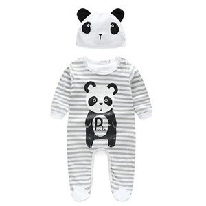 Other - NWT Adorable Newborn Baby Long Sleeve 🐼 Rompers