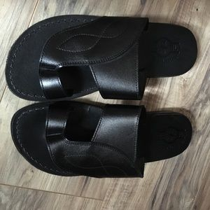 Other - 100% leather mens sandals