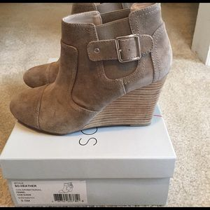 Sole Society Shoes - *Sale*Taupe Sole Society Wedge booties