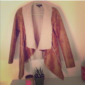 Jackets & Blazers - Shearling lined leather blazer/jacket