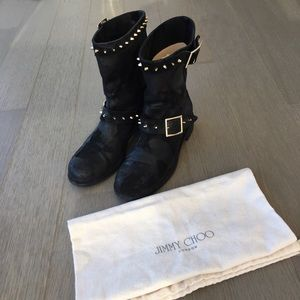 Jimmy Choo Shoes - Authentic Jimmy Choo Biker Boots