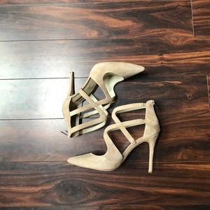 BCBGeneration Shoes - Tan suede heels