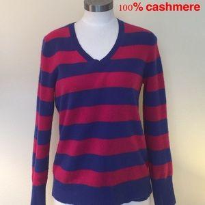 100% Cashmere V Neck Sweater