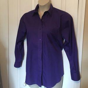 Foxcroft Tops - Purple button down