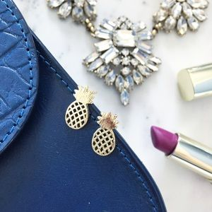 "Erica Rose Jewelry - ""Alani"" Earrings || Gold Pineapple Studs"