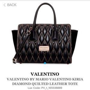 Mario Valentino Handbags - Mario Valentino Kiria Diamond Leather Satchel