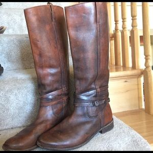 Frye Shoes - FRYE ankle strap brown & sienna riding boots 9.5