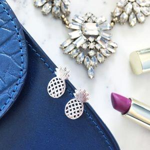 "Erica Rose Jewelry - ""Alani"" Earrings || Silver Pineapple Studs"