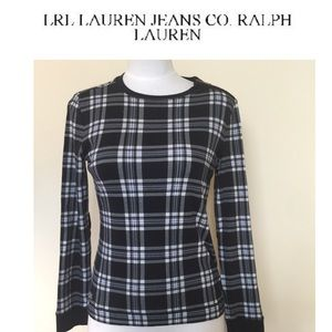 Ralph Lauren Plaid Top with Elbow Patches