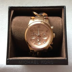 Michael Kors Accessories - Michael Kors Rose Gold Tortoise Shell Watch