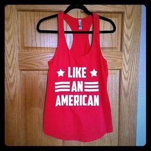 Tops - 'Like An American' racer back tank