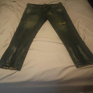 "AKOO  Other - FLASH SALE AKOO Jeans 40"" waist white splatter"