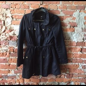 H&M Jackets & Blazers - Black H&M trench coat with hood