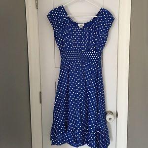 Sara Dresses & Skirts - Sara brand blue polka dot dress 2XL