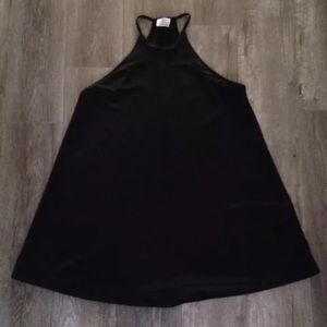 Zara Dresses & Skirts - Zara black simple textured Halter dress. LBD. M