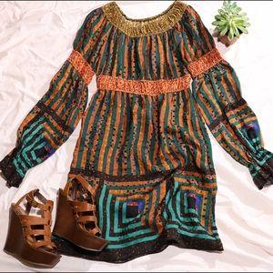 Anna Sui Dresses & Skirts - Anna Sui Peasant Dress Size 0 %100 Silk.