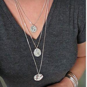Chloe + Isabel Jewelry - Three Row Paillette Graduated Pendant