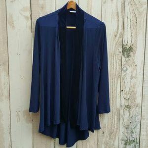 Susan Graver Sweaters - Susan Graver Liquid Knit Open Front Cardigan