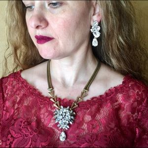 """""""Anne"""" Eeaster Crystal Statement Pendant Necklace"""