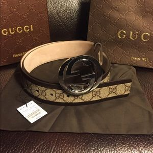 Gucci Other - NWT Authentic Gucci Men's Brown Trim Belt