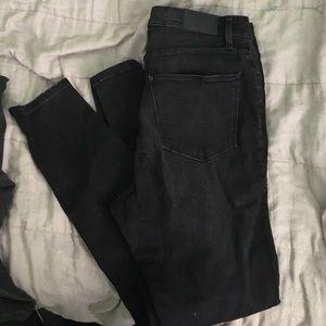 H&M plus black distressed jeans