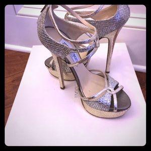 Jimmy Choo Shoes - Jimmy Choo Size 35/5 sierra in champagne glitter.