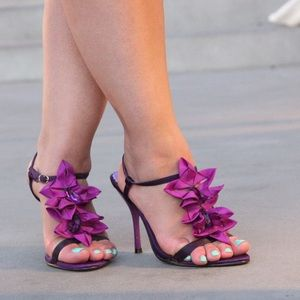 Luichiny Shoes - Luichiny Primal Purple Petal Satin Heels