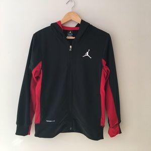 Air Jordan Black Zip Front Therma-Fit Hoodie