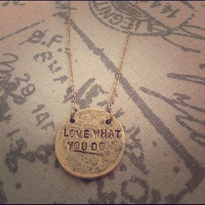 """Words to live by"" 14k gold necklace"