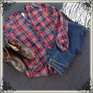 Xhilaration Tops - Blue and White Checkered Blouse (#495)
