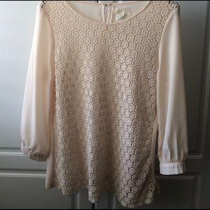 Boheme Tops - Lace front blouse