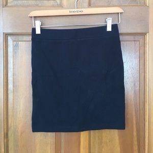 Forever 21 Black Stretch Bodycon Mini Skirt