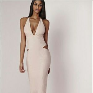 MISGUIDED Plunge cut out midi dress