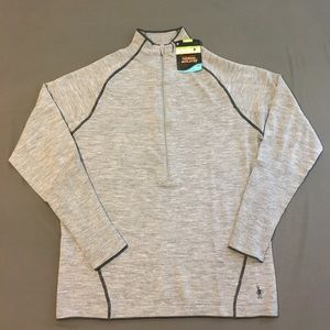 Smartwool Other - Smartwool Gray TML SportKnit Wool Half-Zip