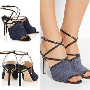 Jimmy Choo Shoes - Jimmy Choo Leather & Denim Sandals